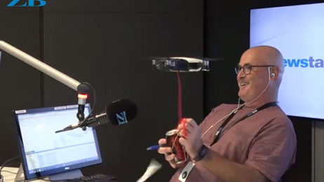 Larry attacked by a drone