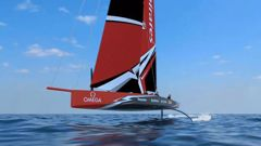 AC75 concept for the boat for the America's Cup 2021. (Photo: Supplied Emirates Team NZ)