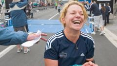 Kerre finishes 755th, and 24th in her grade, in the 2006 Auckland Marathon.