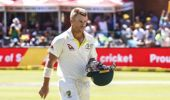Australia's David Warner leaves the field after losing his wicket (Photo \ AP)