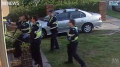 Melbourne police were captured on video taking down a disability pensioner. (Photo / Twitter, ABC video)