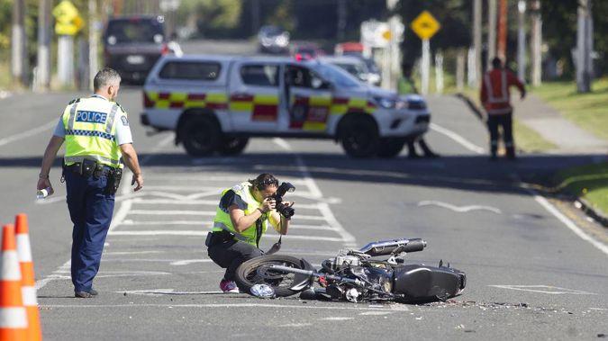 Motorcycle crash in Rotorua (Photo \ NZH)