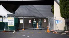 Government MIQ facility at the Holiday Inn, Mangere, Auckland. (Photo / Sylvie Whinray)