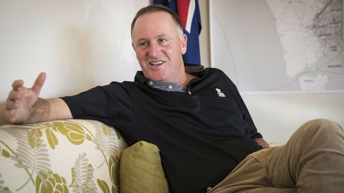Former Prime Minister Sir John Key in his electorate office in Huapai. (Photo / Jason Oxenham)