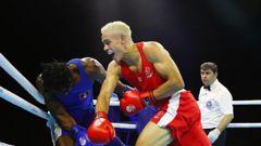 David Nyika of New Zealand competes against Yakita Aska of Antigua and Barbuda during the Men's 91kg Preliminaries. (Photo / Photosport)