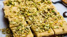 Ginger pistachio slice