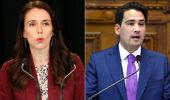 Prime Minister Jacinda Ardern and leader of the opposition Simon Bridges. (Photo \ Getty)