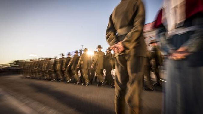 Anzac Day dawn service at the Auckand War Memorial Museum and Cenotaph. (Photo / Michael Craig)