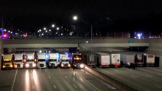A man nearly jumped off an overpass. 13 truckers made a safety net
