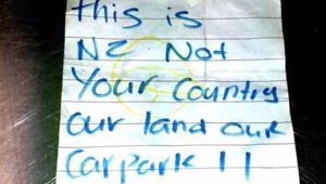 The note was left on the windscreen of the woman's car. (Photo / Instagram)