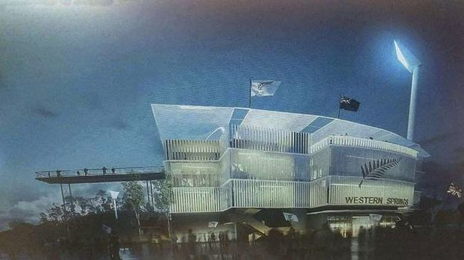 Proposed image of the National Cricket Ground at Western Springs in Auckland. (Photo/ Supplied)