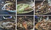Leek risotto with mushrooms. (Photo: Mike van de Elzen).