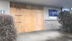 Extensive damage was caused to Morrinsville Police Station (Image / Sheryl Glover)