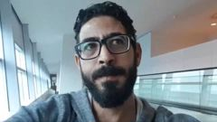Hassan Al Kontar is stranded in Malaysian airport.