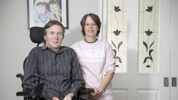 Glenda and Grant Lovatt. Grant has motor neurone disease and his wife cares for him full-time. (Photo / Michael Craig)