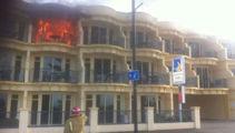 Watch: Motel unit inferno on Napier's Marine Parade