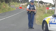 Armed police block roads in west Auckland