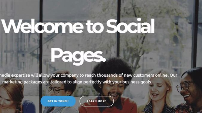 The home page for Social Pages, a social media advertising company. (Photo / Socialpages.co.nz)