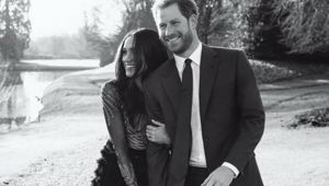 Britain's Prince Harry and Meghan Markle official engagement photo. (Photo: AP)