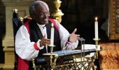 Episcopalian bishop Michael Curry delivers his sermon - unorthodox to the ultratraditional royals (Getty Images)