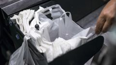 The single-use plastic bags have been banned at ten Countdown stores around the country. (Photo/ Getty)