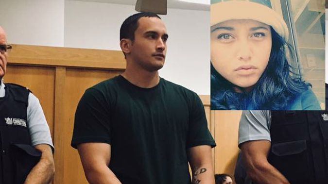 Dylyn Mitchell Davis appears in the Hamilton High Court, to be sentenced for the murder of Aroha Kerehoma.