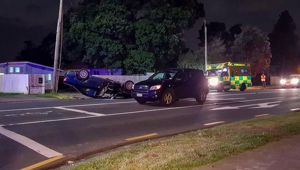 One person has died after a two car crash in Mangere. (Photo / SAM Sword