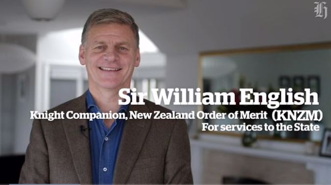 Sir William English hopes people will stick to calling him Bill. (Photo / NZ Herald)