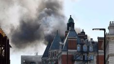 Firefighters search 116-year-old London hotel amid blaze