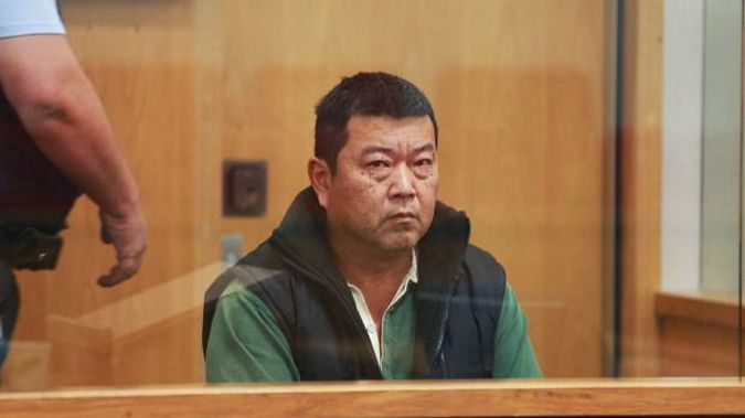 Li Dong Xie during his sentencing today in the Auckland District Court. Photo / Doug Sherring