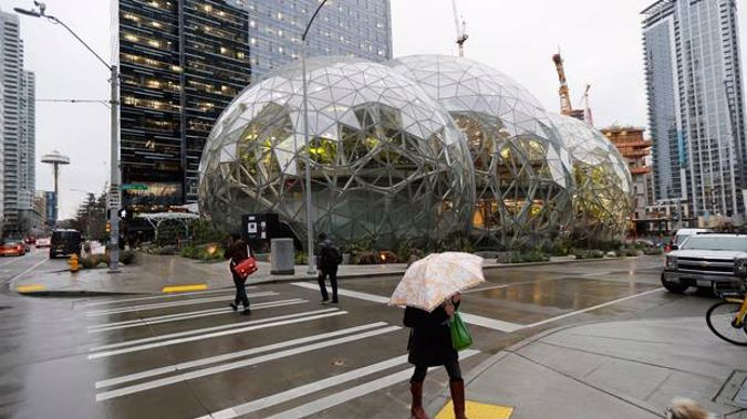Amazon's Spheres in downtown Seattle serve as a conservatory as well as an employee lounge and workspace. Photo / AP