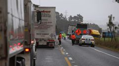 Emergency services at the scene of a fatal crash on State Highway 1 near Waipu. Photo / John Stone