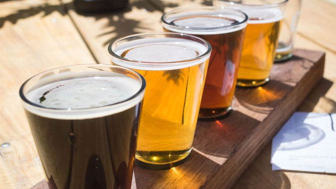 Beer is the drink of choice amongst many when out having a meal. (Photo: Getty Images)