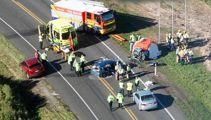 Watch: Six dead, including newborn baby, in horror Waverley crash