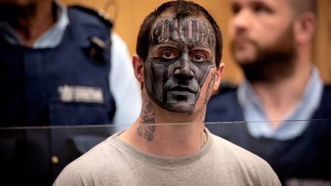 Convicted murder Adam Gempton is sentenced at the Christchurch District Court for assaulting prison guards. Photo / Martin Hunter