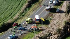 The scene of Wednesday's crash. Photo/NZ Herald
