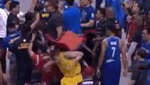 Basketbrawl! Australia v Philippines match descends into chaotic fist fight