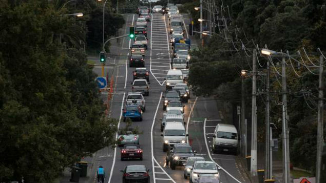 Traffic along Lake Rd in 2017. It is getting steadily worse at weekends, Devonport residents say. (Photo / Brett Phibbs)