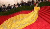Guo Pei dressed Rihanna in yellow for the Met Gala in 2015. (Photo: Getty)