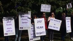 Acting PM Winston Peters on nurses strike