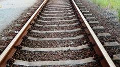 Elderly man dies after car goes onto train tracks
