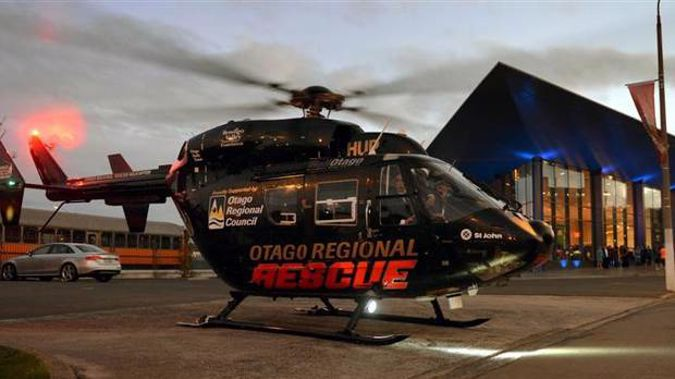 The Otago Regional Rescue Helicopter has been dispatched after reports of a man trapped in a silo.
