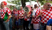 Croatian fans were celebrating in Russia as much as they were in New Zealand. (Photo / Getty)