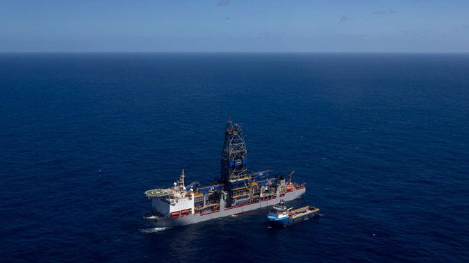 Drilling exploration off the Taranaki coast. Photo / NZ Herald