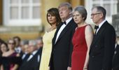 Donald Trump has made an awkward start to an already tense UK visit. (Photo / AP)