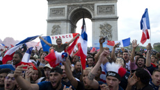 French fans celebrate after FIFA victory