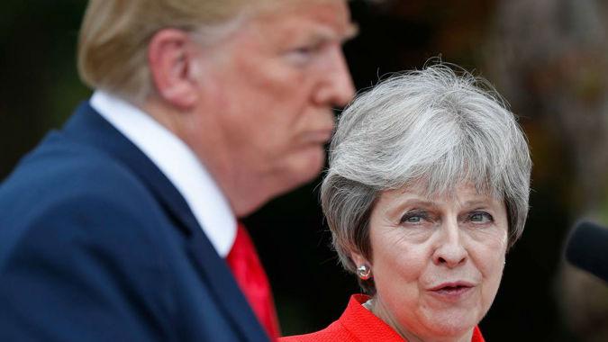 May reveals Trump's Brexit advice: Sue the EU