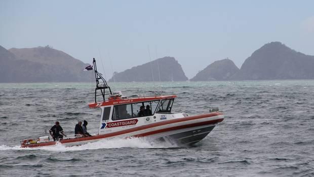 The Coastguard Bay of Islands vessel Bay Rescue II in action. Photo: Peter de Graaf