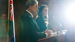 Jacinda Ardern and Winston Peters. Photo \ Getty Images