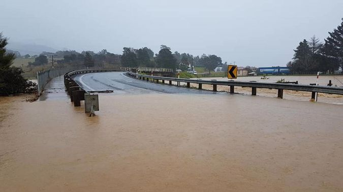Flooding struck much of the country over the weekend. (Photo / NZ Herald)